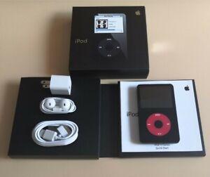 Apple iPod Classic video 5th Gen Black & Red ( U2 80GB) - Custom