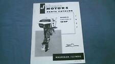 1957 Johnson 18hp FDE-11 FDEL-11 Parts Catalog