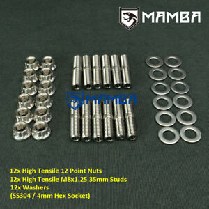 MAMBA SS304 CNC Exhaust Manifold to Header Stud Kit For Audi 80 90 100 Quattro