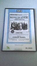 "DVD ""BODAS DE SANGRE"" CARLOS SAURA ANTONIO GADES CRISTINA HOYOS"