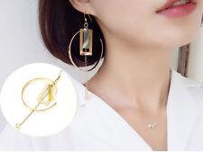 Earring Exaggerated Long Hook Earring 1pc Metal Circle Geometric Tassel Pendant