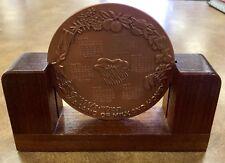 {BJSTAMPS} 1996 ISRAEL Bronze Land Of Milk Honey State Medal Calendar Wood STD.