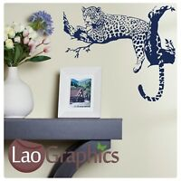 Leopard in Tree Wall Art Sticker Large Vinyl Transfer Graphic Decal Decor UK Art