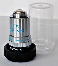 objectif, objective, microscope, EDMUND Achromat 40 pour Nikon, Olympus, Zeiss