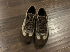 GUCCI Monogram Leather Low-top Shoes Mens