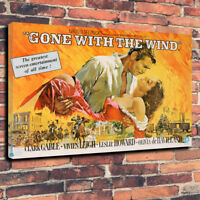 "Gone With The Wind Printed Box Canvas Picture A1.30""x20"" 30mm Deep Clarke Gable"