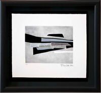 "Hans RICHTER Original ETCHING Hand SIGNED ""As Mondrian..."" w/Custom Frame"