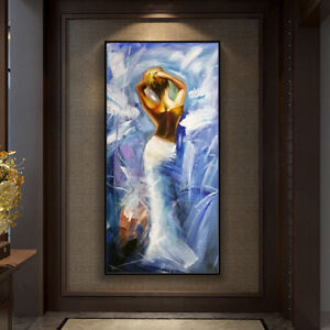 Mintura Handpainted Pretty Naked Girl Modern Abstract Oil Paintings Picture Arts
