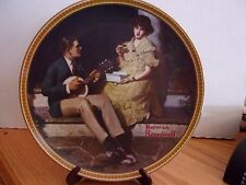 """Norman Rockwell Collector Plate """"Pondering on the Porch"""" by Knowles Fine China"""