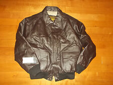 NWT Air Force A-2 Landing Leathers Soft Leather Bomber Pilot Motorcyle Jacket L
