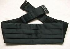 Cummerbund Mens Pleated Vintage Retro 1980s 1990s Pleated BLACK