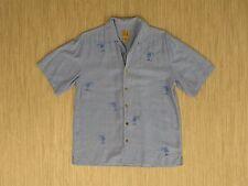 Jos. A. Bank Blue Hawaiian Style Shirt Men's Size S 100% Silk Short Sleeve Palms