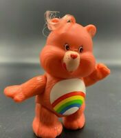 Vintage 80's Kenner CHEER Pink Rainbow CARE BEAR Poseable Vinyl PVC Figure #2