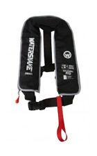 WATERSNAKE Inflatable PFD Life Jacket Adult Level 150 Manual Black