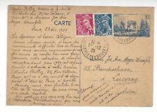 1939 Paris France, Uprated Postal Card to Luzerne Switzerland