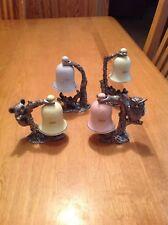 Lot of 4 MA Ricker Pewter Figurines W Bells 1981 1982 1983  1984 W/ COA