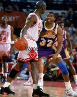 NBA Finals 1991 Michael Jordan vs Magic Johnson Game Action Color 8 X 10 Photo