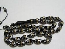 Prayer Beads-Coco-Kuka-Rosary-masbaha-tasbih 33 beads inlaid white  cooper color