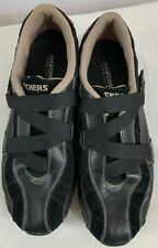 Skechers SN 46297 Black Slip On Leather/Suede Casual Shoes Womens 9 Sneakers