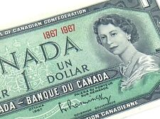1967 Canada 1 One Dollar Circulated Canadian Elizabeth Banknote J075