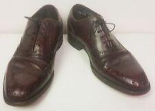 Burgundy wing tip oxford men's shoes master-flex Hanover 7 1/2 DB