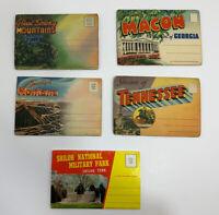 Lot of 5 Vintage Fold Out postcards