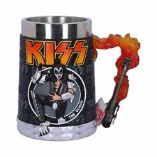More details for new kiss flame range gene simmons the demon tankard 14cm official licensed
