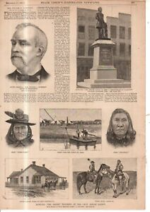 1887 Leslie's November 26 - Indian troubles at the Crow agency in Montana
