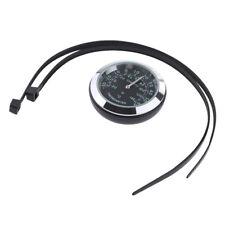 ALLUMINIO nero Manubrio Moto Orologio Termometro indicatore della temperatura indicatore del tempo