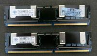 2 x 1GB (2GB) Nanya NT1GT72U8PB0BN-3C Memory SDRAM ECC PC2-5300F-555 11-B4