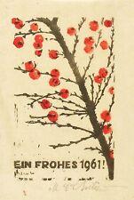 MARTIN ERICH PHILIPP / MEPH - Weißdorn - Farbholzschnitt 1960