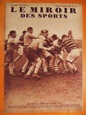 Miroir des Sports 794 du 16/10/1934-Rugby-Racing Club de France-Vienne 3-3-Théau