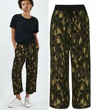 Topshop Wide Leg Mid Rise Trousers for Women