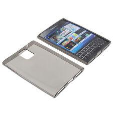 Funda para Blackberry Passport Funda Protectora de Móvil TPU Goma Funda Gris