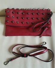 Ladies Foldable Clutch Shoulder Bag Dark Red Code Accesories
