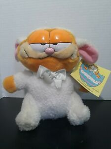 Vintage Rare Garfield Lamb Stiffed Toy With Tag Dakin Collection