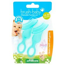 Brush Baby Chewable Soft Toothbrush for Babies & Toddlers - Pack of 2