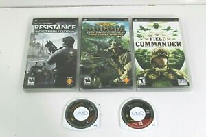 5 PSP GAMES SOCOM, RESISTANCE, GOD OF WAR, FIELD COMMANDER, DARK MIRROR