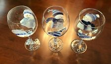 New listing Buy 2 Get 1 Free! (3 total) Snowman Wine Glasses-Hand Painted Christmas Decor