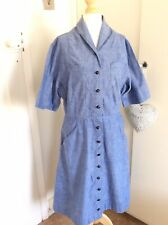 Original Vintage 1950s Nurses Uniform Dress Egerton Burnetts NHS 12-14