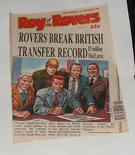 ROY OF THE ROVERS COMIC 11TH NOVEMBER 1989