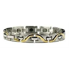 Gold Plated Surf - Titanium Magnetic Therapy Bracelet