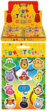 120 Packs of Jungle Animal Stickers in Wholesale Display Box. Pocket Money Toy