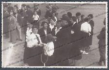 GENOVA CITTÀ 342 CORNIGLIANO - CAMPO LITTORIO FASCISMO - FOTOGRAFIA PRIVATA 1936