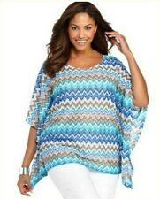 NWT $46 STYLE & CO. Multi-Color Batwing Dolman Sleeve Top Blouse Tunic Size: PS