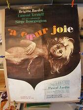 "Affiche original film""A coeur joie avec Brigitte Bardot J.Rochefort L. Terzieff"