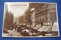NEW STREET LOOKING WEST BIRMINGHAM Real Photo Postcard 1930s Pre-WW2