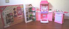 GLORIA DOLL FURNITURE Deluxe KITCHEN W/REFRIGERATOR & Sink FOR Barbie