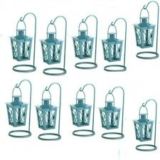 10 Blue Lantern Small Mini-Candleholder Wedding Centerpieces Baby Shower Decor