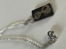 "Stainless Steel Infinity Symbol Pendant With 16"" Cable Chain Necklace"